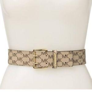MK signature mini logo belt